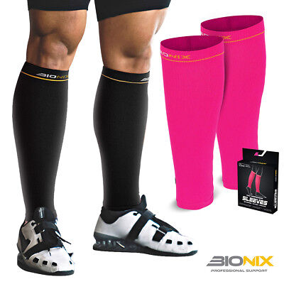 Compression Calf Sleeves Pair Shin Splints Running Support Guards Socks Cycling