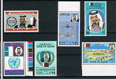 QATAR 1970/80's. Amir Khalifa Commemorative Selection all MNH POST FREE TO UK