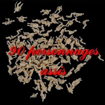 90 personnages assis HO 1/87