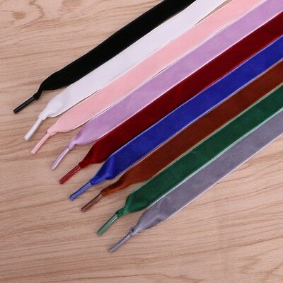 Colorful Shoelace Silk Shoelaces Shoe Laces Flat Shoestring Multi Color Ribbon