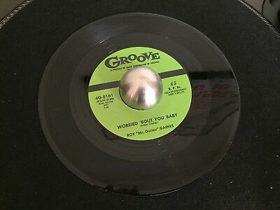 Roy Gaines Worried ´Bout You Baby 45 RE