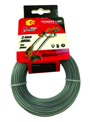 1 X 2.4mm x 15m, Dual Colour, Reinforced Strimmer Line, 0.080 in x 50 feet