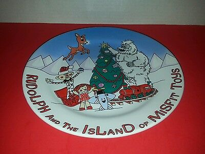 Rudolph and the Island of Misfit Toys 8 inch round plate