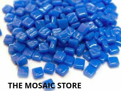True Blue 8mm Mosaic Glass Tiles (Micro / Tiny / Small) - Art & Craft Supplies