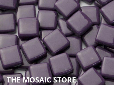 Purple Gloss Glass Tiles 1cm - Mosaic Art & Craft Supplies