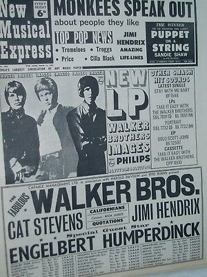 NEW MUSICAL EXPRESS..(11th March 1967)..JIMI HENDRIX.,WALKER BROTHERS .FREE POST