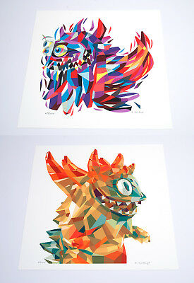 Set of two Tim Biskup signed Giclee Print - 304x304mm