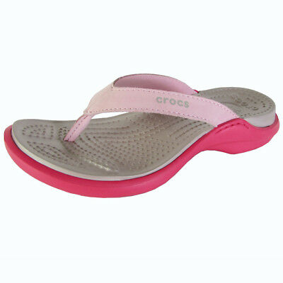 9e778ca3d071 CROCS WOMENS CAPRI IV Thong Flip Flop Sandal Shoes
