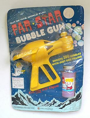 Vintage FAR STAR BUBBLE GUN Space Ray Gun Pistol MISP Kilgore USA 1960's