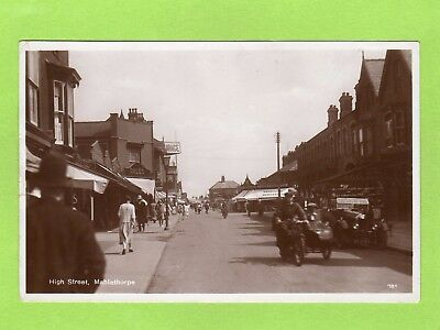 High Street Mablethorpe Motorcycle RP pc used 1931 Ref D559