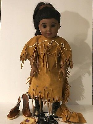 American Girl Kaya Doll Native American Indian Boots Shoes Bag Acessories