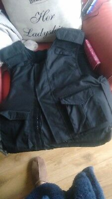 Body Armour Protective Stab Jacket With Pockets Size Xl