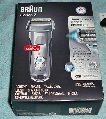 New Braun Series 7 7893s turbo wet/dry cordless rechargeable electric shaver