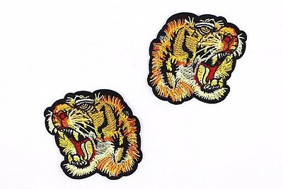 0f6cb35e837109 Tiger Patches (10 Pair) Tigers Head Gucci Style Iron On DIY Embroidered  Applique