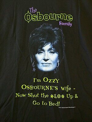 """""""I'm Ozzy Osbourne's Wife Now Shut The *&@# Up & Go To Bed"""" TSHIRT LG Family NEW"""