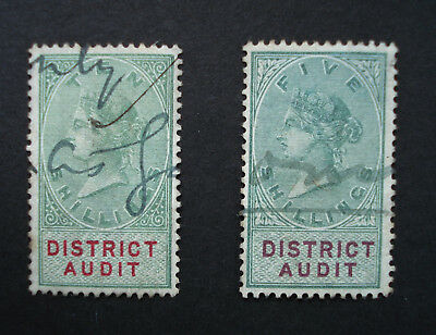GB   Revenues / Fiscals   1896   District Audit   10s, 5s    Very Good Condition