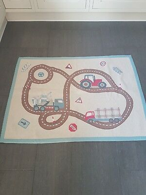 Laura Ashley Kids Tractor And Trucks Rug