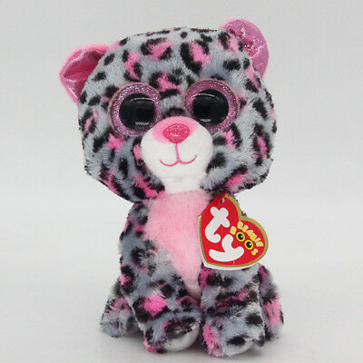 "Ty Beanie Boos 6"" Tasha Stuffed Plush Toy Kids Stuffed Doll Gift Animal Soft Toy"