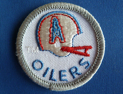 Rare Vintage Nfl Houston Oilers Embroidered Patch