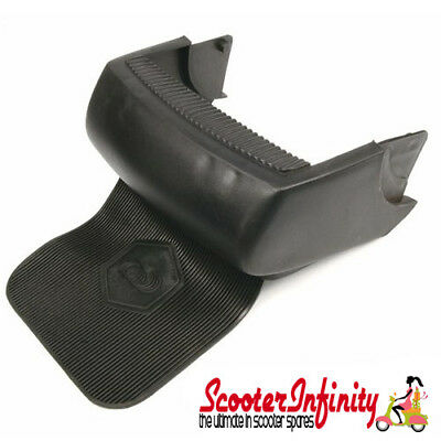 Bumper Rear (Black, With Black Mudflap) (Vespa PX/Lusso/MY)