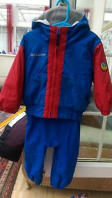 Columbia 2 piece ski suit for age 2T. Jacket and salopettes.