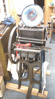 Antique Kelsey Printing press with hamilton cabinets (PICk UP ONLY)