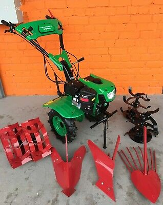 New Tiller Cultivator Walk-behind Tractor 900C 7.5HP with wheels and ploughs