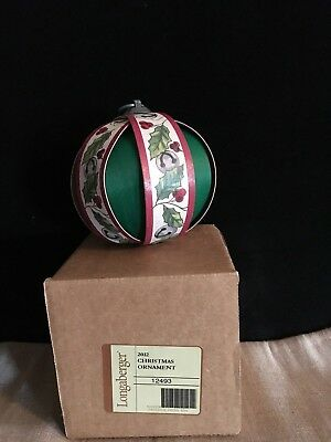 Longaberger 2012 Christmas  Ornament -  New