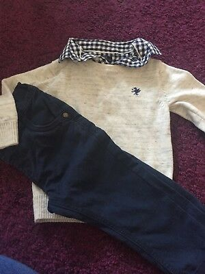 baby boy next outifit smart 9-12 months trouser and top set - worn once