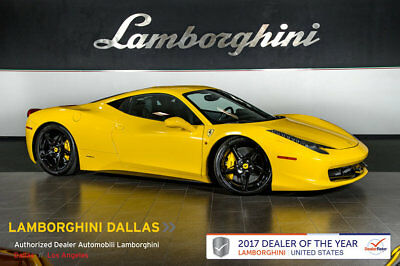 2010 Ferrari 458 Base Coupe 2-Door FRONT LIFT+ALCANTARA+CARBON FIBER+DAYTONA SEATS+SHIELDS