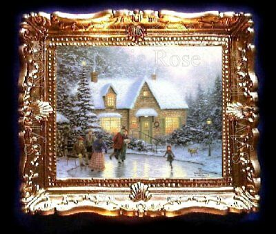 DOLLS HOUSE MINIATURE PICTURE CHRISTMAS SNOW SCENE LIVING DINING ROOM. No.180