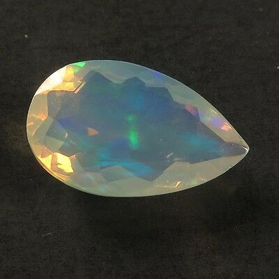 Glorious Natural ETHIOPIAN OPAL 16x9 mm PEAR FACETED  Gemstone 3.50 Cts  Trader