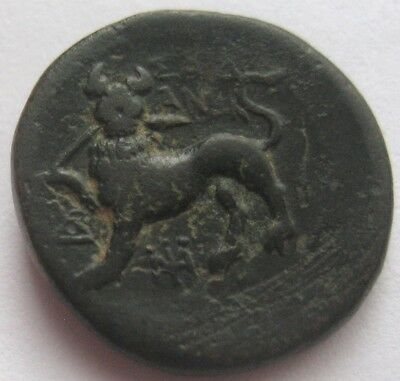 "GREAT AUCTION start 1 $ LYDIA SARDES Autonomous 200-1 b.C. AE 18 ""Panther"" RR"