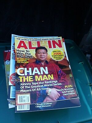 Huge Lot of Poker magazines Johnny Chan Hellmuth Negranu More