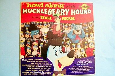 Vintage 1960 Howl Along with Huckleberry Hound Record Album