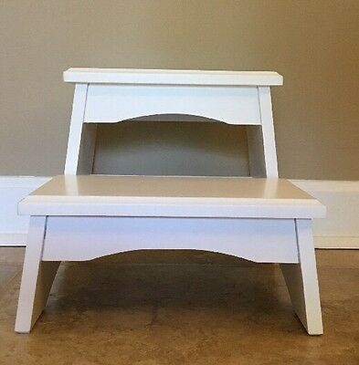 NEW Pottery Barn Kids Step Stool Two Step WHITE