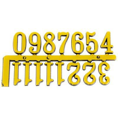 Clock Face Numerals Gold Coloured Plastic Two Sizes Available Clock Numbers