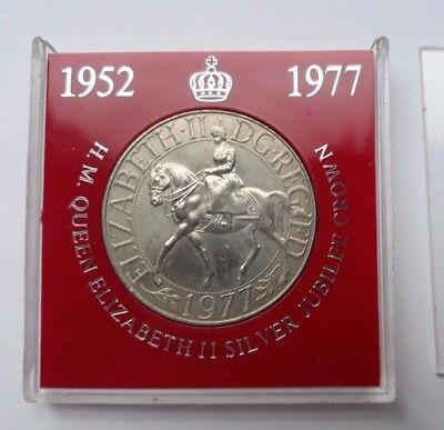 QE2 Silver Jubilee Commemorative Crown Coin In Plastic Display Case. 1977 UK