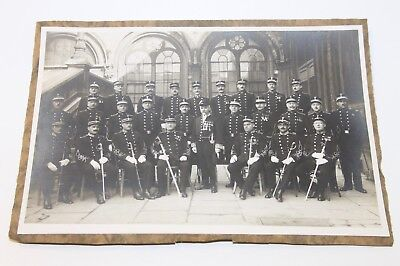 Photo Ancienne - Officiers - Police de Bruxelles - Pré WWI