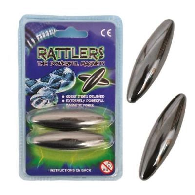 65mm Large Magnetic Rattlers Rattling Magnets Snake Eggs,Stress Reliever UK P&P