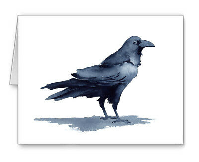 Raven Note Cards With Envelopes