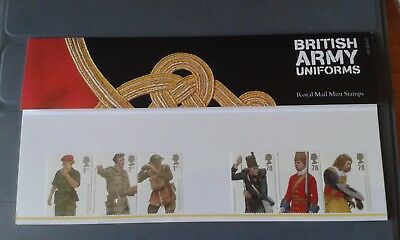 Royal Mail Mint Stamps 'British Army Uniforms' Presentation Packs