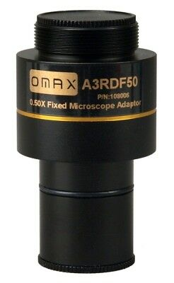 0.5X Microscope Camera Adapter Reduction Lens 23.2mm Diameter Enlarge Field of V