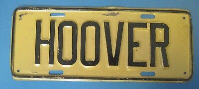 Hoover license plate attachment