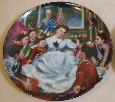 """Knowles Plate-The King And I """"getting To Know You"""" Collector Plate 1985"""