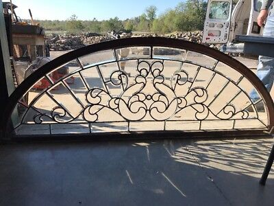Sg 1576 Restored Antique All Balbo Glass Arch Transom Window 76 X 27.25