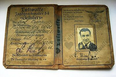 German Green Heart formation pilot's ID document