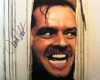 "Jack Nicholson ""The Shinning"" autographed 8x10 photo RP"