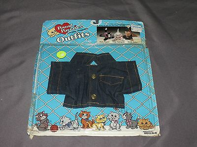 w8 Rare Vintage Pound Pur-r-ries Outfits Denim Jacket New in Package 1986 Tonka