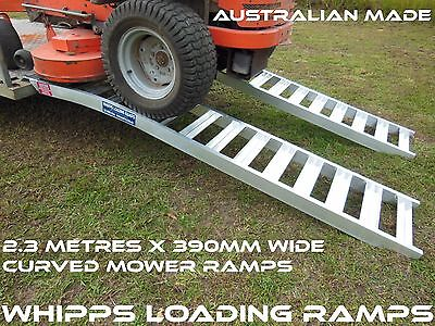 Mower Loading Ramps 2.3 Metre Curved Extra Wide 1 Tonne Capacity
